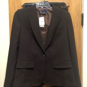 J Crew Brown Women's Suit Size 8 New With Tags